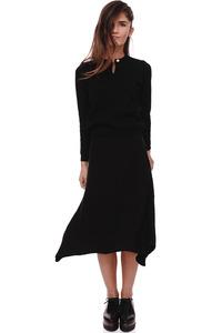 חצאית סריג שחור