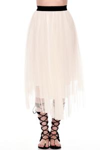 חצאית טול לבנה