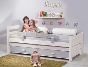 מיטת ילדים עצמלה דגם אופיר מעץ אורן מלא + מיטה נגררת