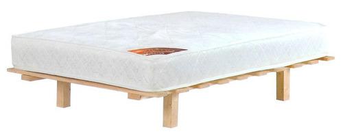 מיטה ברוחב וחצי מעץ אורן מלא + מזרון קפיצים אורטופדי מבית מדיקומפורט