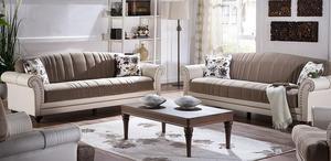 סלון סנדרה הכולל ספה תלת מושבית וספה דו מושבית Bellona