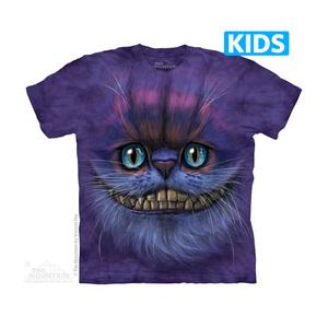 The Mountain חולצה קצרה בהדפס מלא - Big Face Cheshire Cat Kids