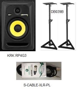 חבילת מוניטורים + סטנדים + כבלים PACK-1