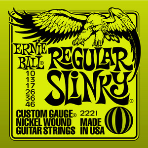 מיתרים לחשמלית Ernie Ball Nickel Wound Regular Slinky 10-46