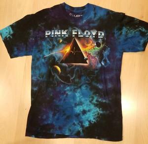 Pink Floyd חולצה קצרה בהדפס מלא - Pulsar Prism Tie Dye