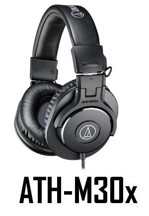 ATH-M30X אוזניות אולפניות תוצרת AUDIO TECHNICA