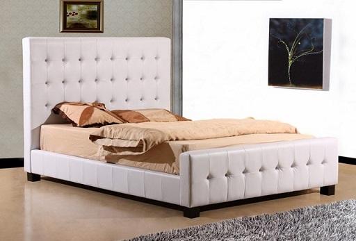 מיטה זוגית מבית GAROX דגם CRISTINA עור אמיתי