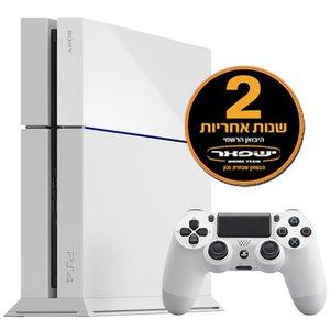 PlayStation 4 White 500GB שנתיים אחריות יבואן רשמי+מעמד שולחני לבן Sony