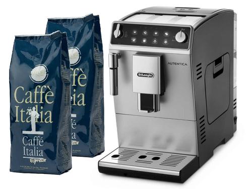 מבצע מכונת קפה אוטומטית Delonghi AUTENTICA ETAM 29.510.SB + 2 ק