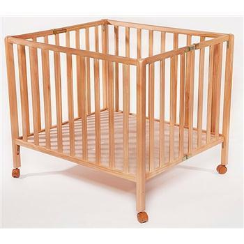לול עץ כולל מזרון לתינוק מעץ מלא Baby line דגם רומא