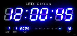 שעון קיר דיגיטלי LED JH4622B בכחול
