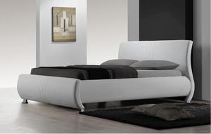 מיטה זוגית מבית GAROX דגם SERENA בעיצוב איטלקי מעור אמיתי