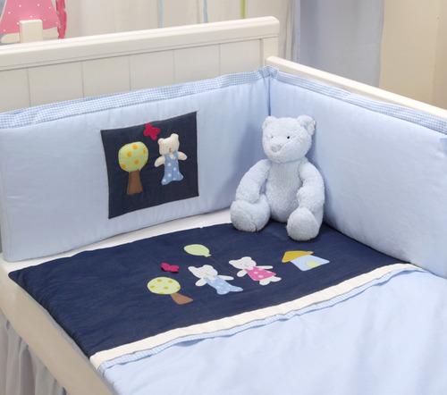 סט מצעים דובי ג'ינס למיטת תינוק
