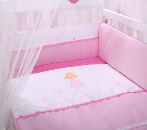 סט מצעים נסיכה למיטת תינוק