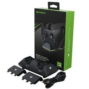 מטען שלטים+זוג סוללות SparkFox xBox One Controller Dual Battery