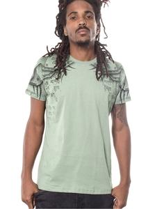 PlazmaLab short sleeves T- shirt - Elephant Green