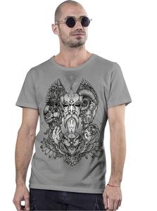 PlazmaLab short sleeves T- shirt - Mad World Light Grey