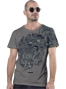 PlazmaLab short sleeves T- shirt - Bestiary Sensual Grey