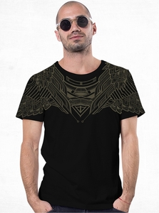 PlazmaLab short sleeves T- shirt - Yanshu Black