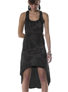 PlamaLab שמלה/טוניקה בגזרה מיוחדת לנשים - Trees Black Plazmalab