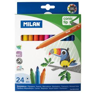 סט 24 טושים צבעוניים MILAN