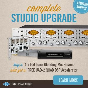 שדרוג מושלם לאולפן Universal Audio