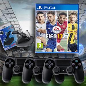FIFA 17 + שלישיית שלטים + עמדת טעינה