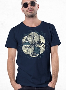 PlazmaLab short sleeves T- shirt - Sacred Geo Blue