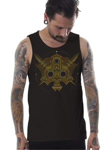 PlazmaLab גופייה - Extract Dark Brown Tank Top