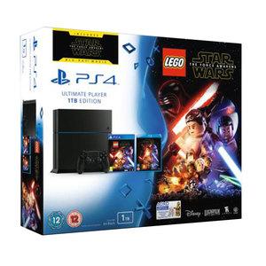 קונסולה PS4 1TB שחור כולל משחק LEGO STAR WARS Sony