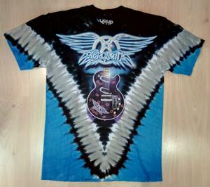Aerosmith חולצה קצרה בהדפס מלא - Guitar