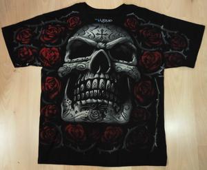 Dark Fantasy חולצה קצרה בהדפס מלא - Day Of The Dead Generic