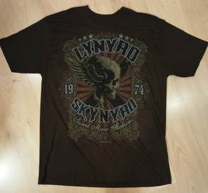 Lynyrd Skynyrd חולצה קצרה בהדפס מלא - Sweet Home Alabama Brown Tie Dye