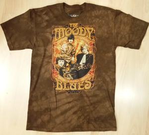Moody Blues חולצה קצרה בהדפס מלא - Vintage Poster Tie Dye