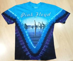 Pink Floyd חולצה קצרה בהדפס מלא - Diver Tie Dye
