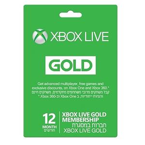 מנוי ל- 12 חודשים — Xbox Live Gold 2016