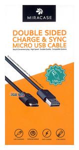 כבל טעינה MICRO USB דו צדדי טעינה מהירה Miracase
