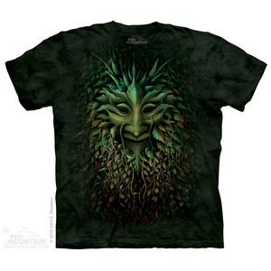 The Mountain חולצה קצרה בהדפס מלא - Greenman