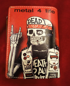 Chun And Dahl ארנק עור - Rock Skull 904