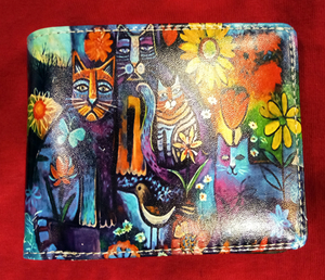 Chun And Dahl ארנק עור - Picaso Cats 901