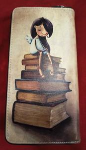 Chun And Dahl ארנק עור סינטטי -  Book Girl W Zipper 806