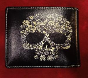 Chun And Dahl ארנק עור - Skull 901