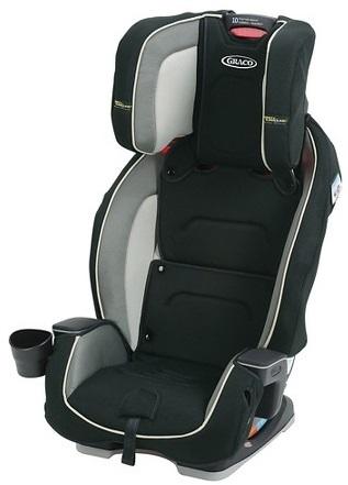 כיסא בטיחות משולב בוסטר מילסטון הכל באחד שחור אפור בהיר