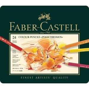 Faber Castell | סט 24 עפרונות שמן פוליכרומוס