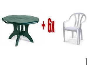 שולחן מתומן כתר + 6 כסאות דליה