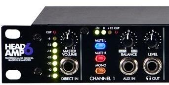 HeadAmp6 - מגבר אוזניות 6 ערוצים עם 3 יציאות לכל ערוץ.