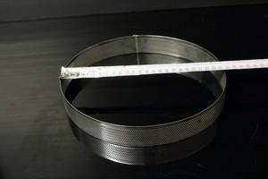 """רינג עגול מחורר קוטר 24 גובה 3.5 ס""""מ"""