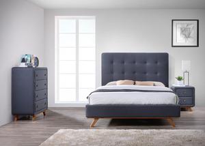 מיטה זוגית מבית GAROX דגם ALMA מרופדת בד