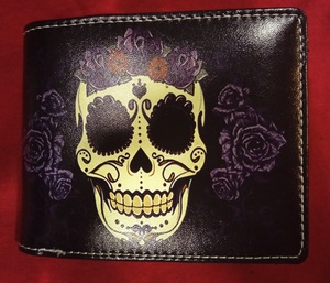 Chun And Dahl ארנק עור - Mexican Skull 901