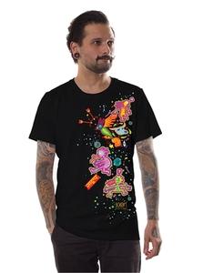 PlazmaLab short sleeves T- shirt - Boom 2016 Full Color Black